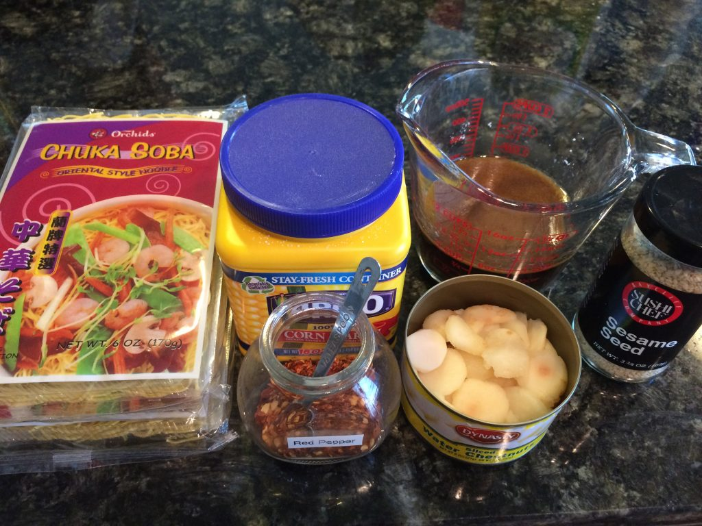 Chicken & Broccoli Noodle Stir Fry - Ingredients