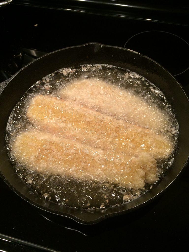 Fish Katsu - Cooking