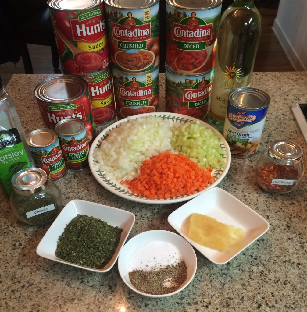 Italian Spaghetti Sauce - ingredients