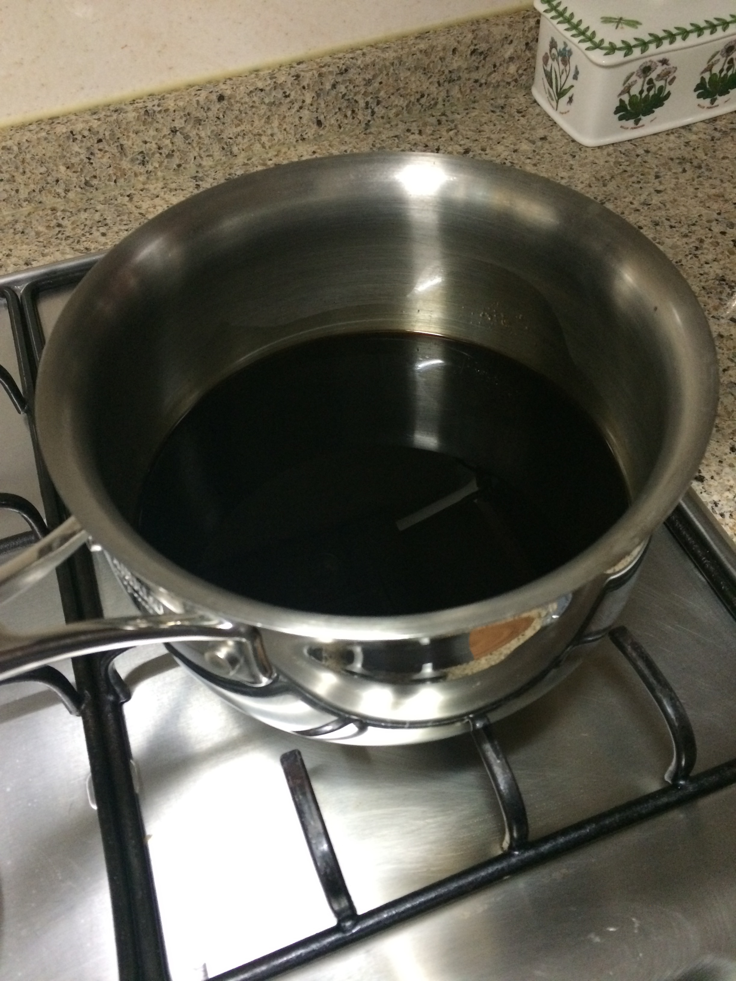 Teriyaki Sauce - Strain out the ingredients