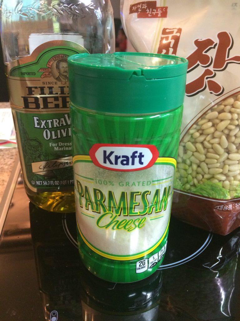 Basil Pesto Sauce - Ingredients