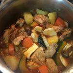 Korean Chicken Stew - Combining the remaining ingredients