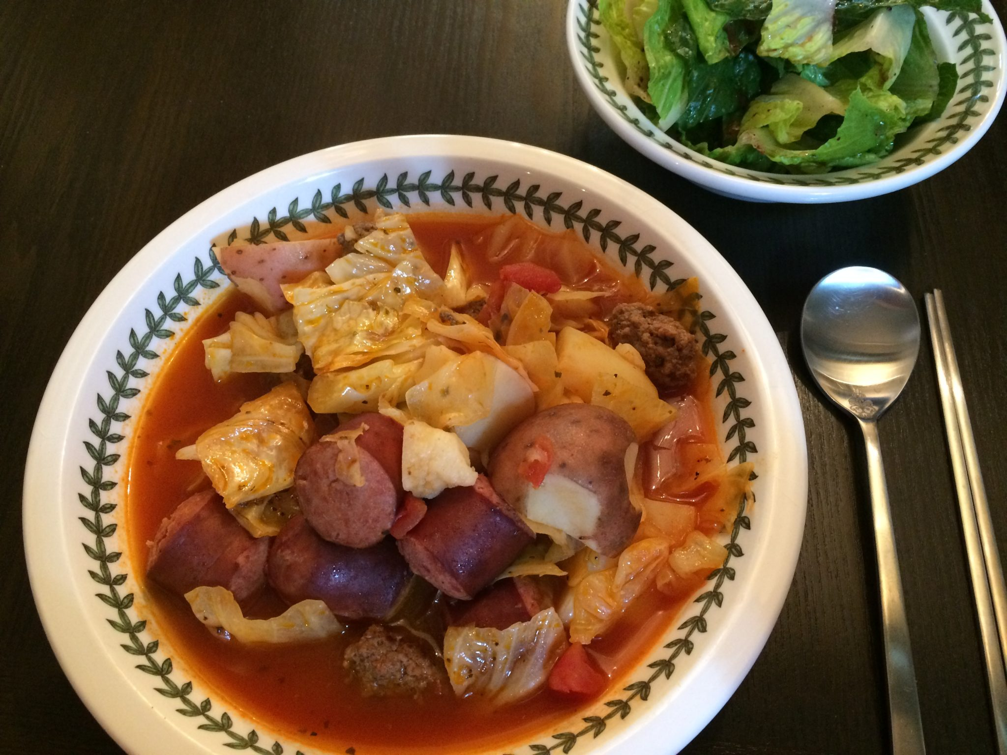 Sausage Cabbage Stew