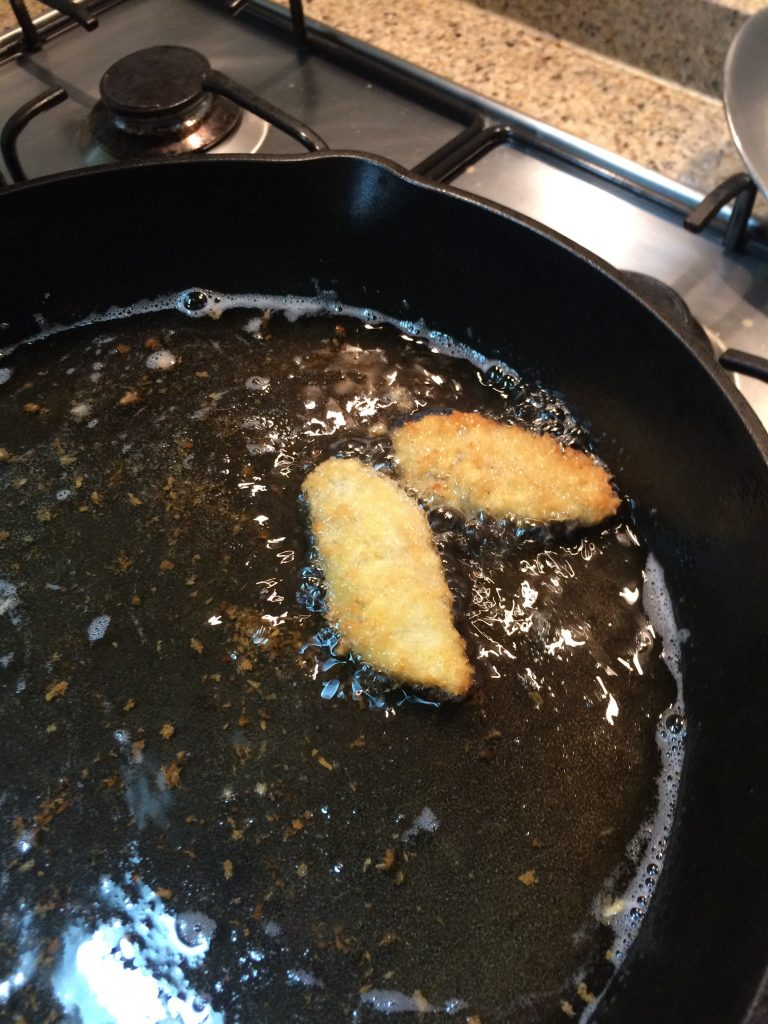 Hawaiian Fish Taco - Frying fish