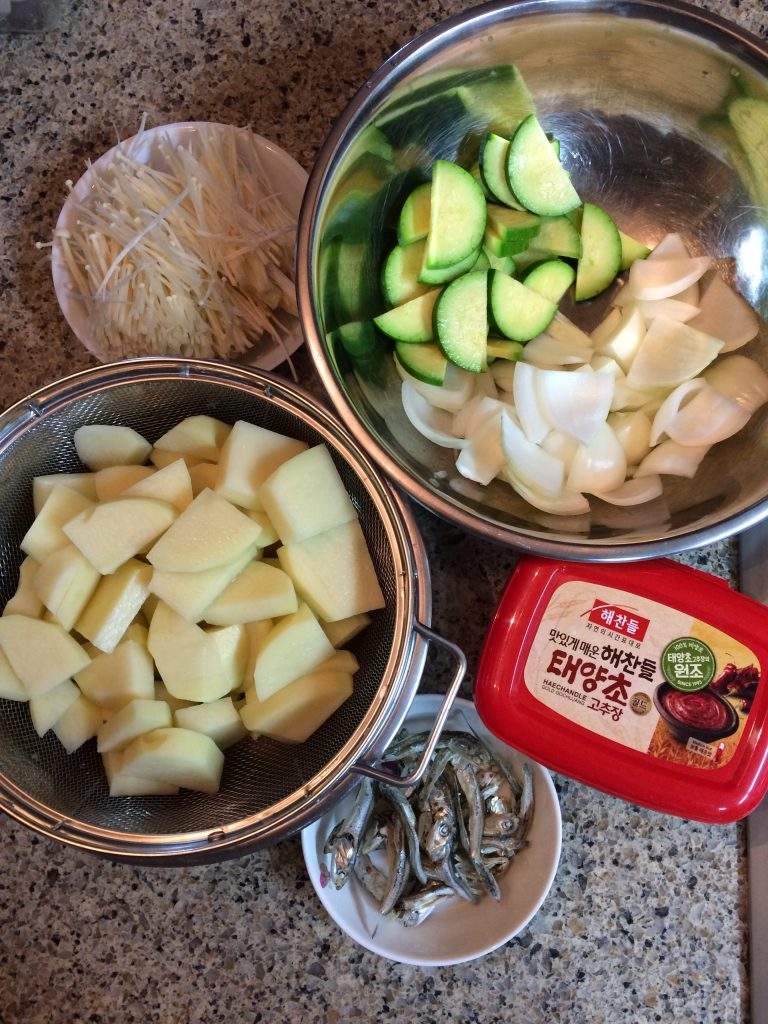 Gochujang Jjigae - Ingredients