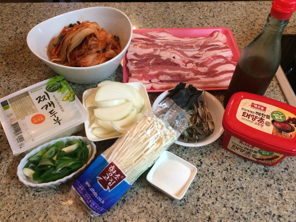 Kimchi Jjigae - Ingredients