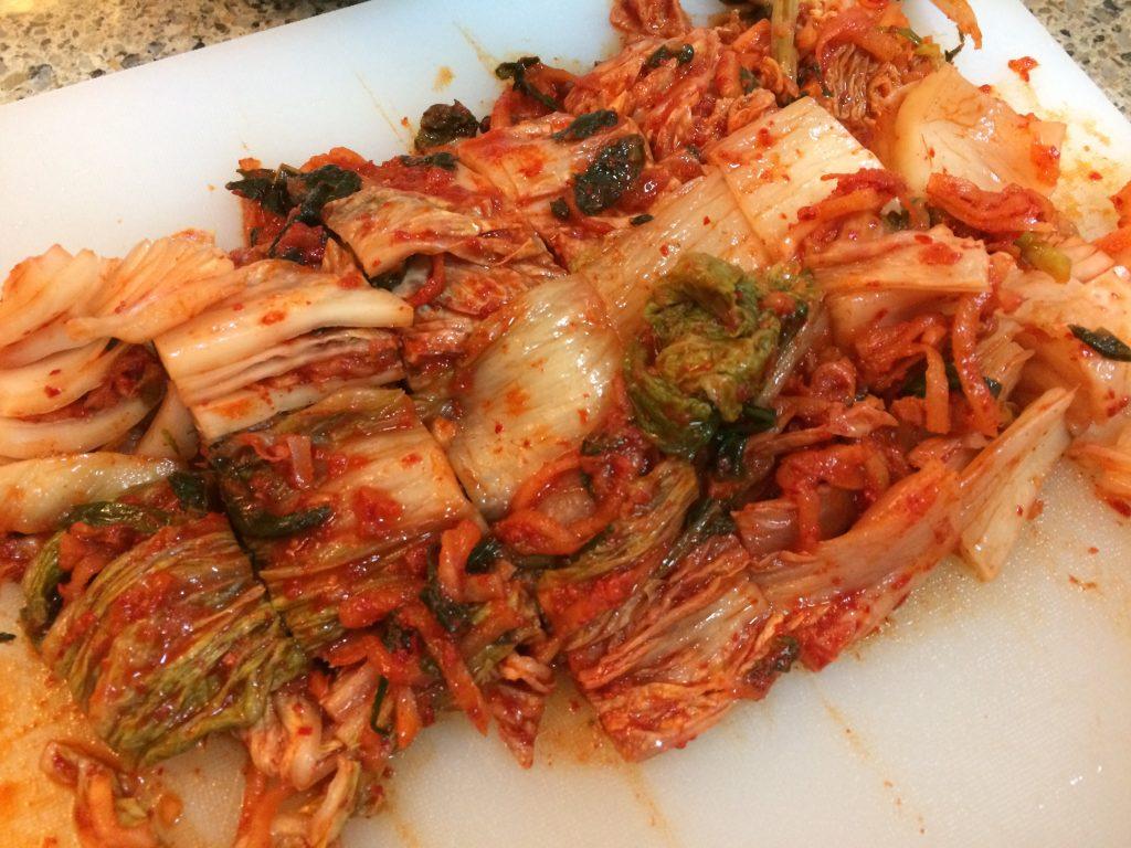 Kimchi Jjigae - Cut kimchi