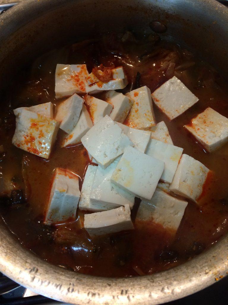 Kimchi Jjigae - Add tofu
