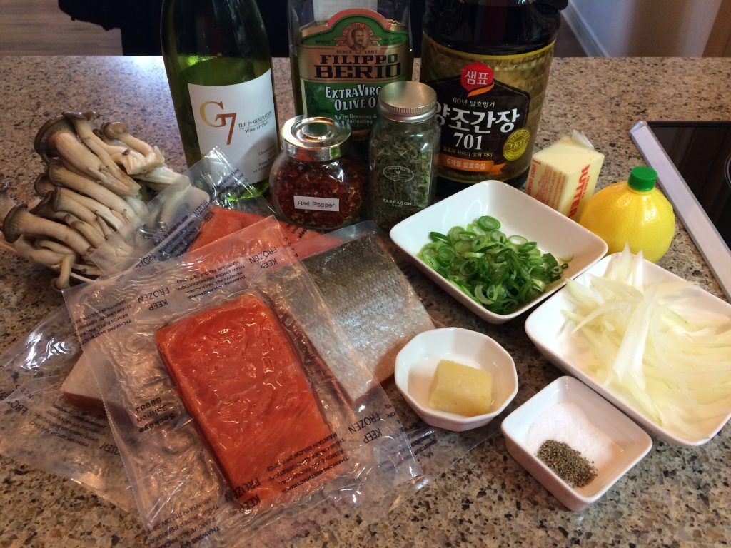 Salmon Beurre Blanc - Ingredients