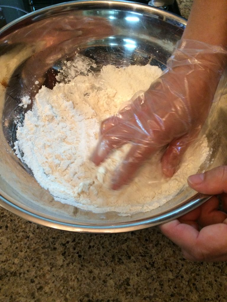 Seafood Sujebi - Dough making