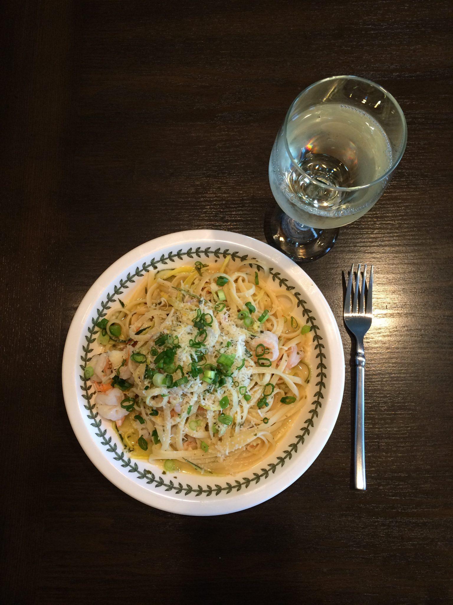 Shrimp & Squash Scampi