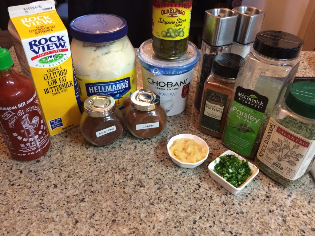 Southwestern Ranch Dressing - Ingredients