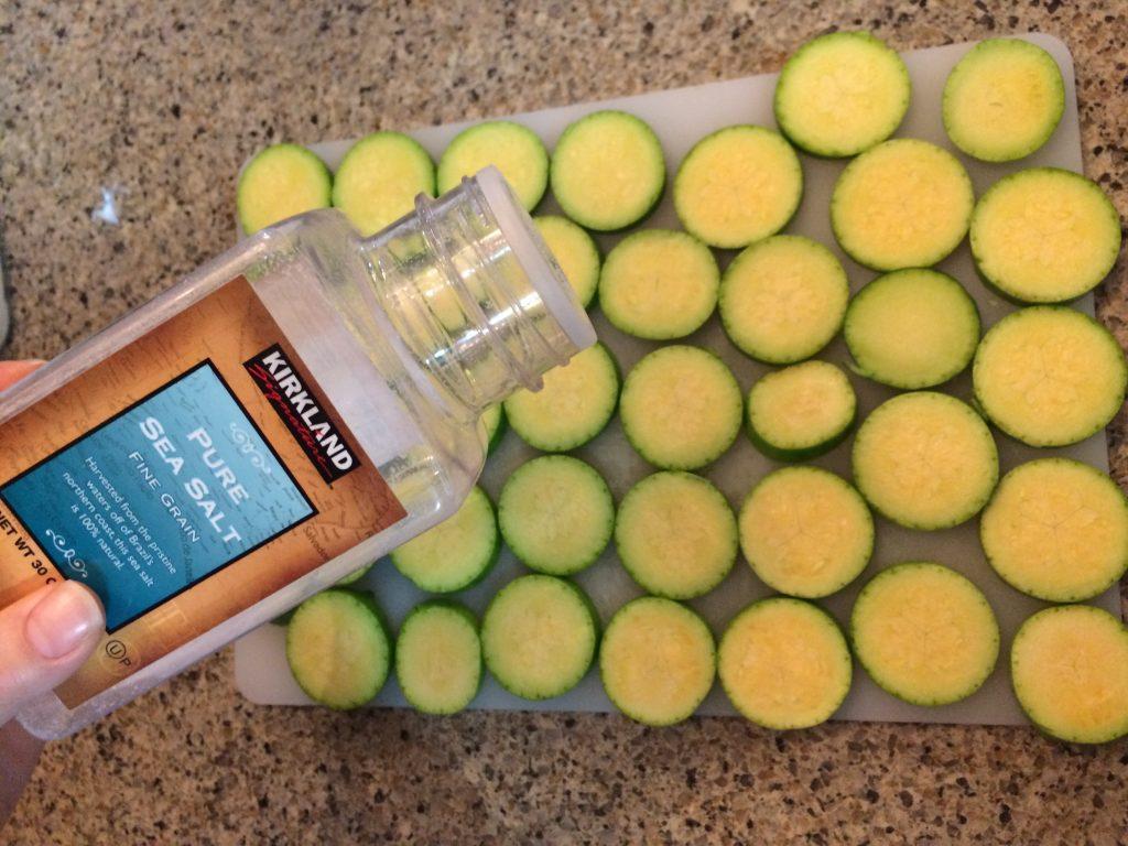 Zucchini Jun - Salting