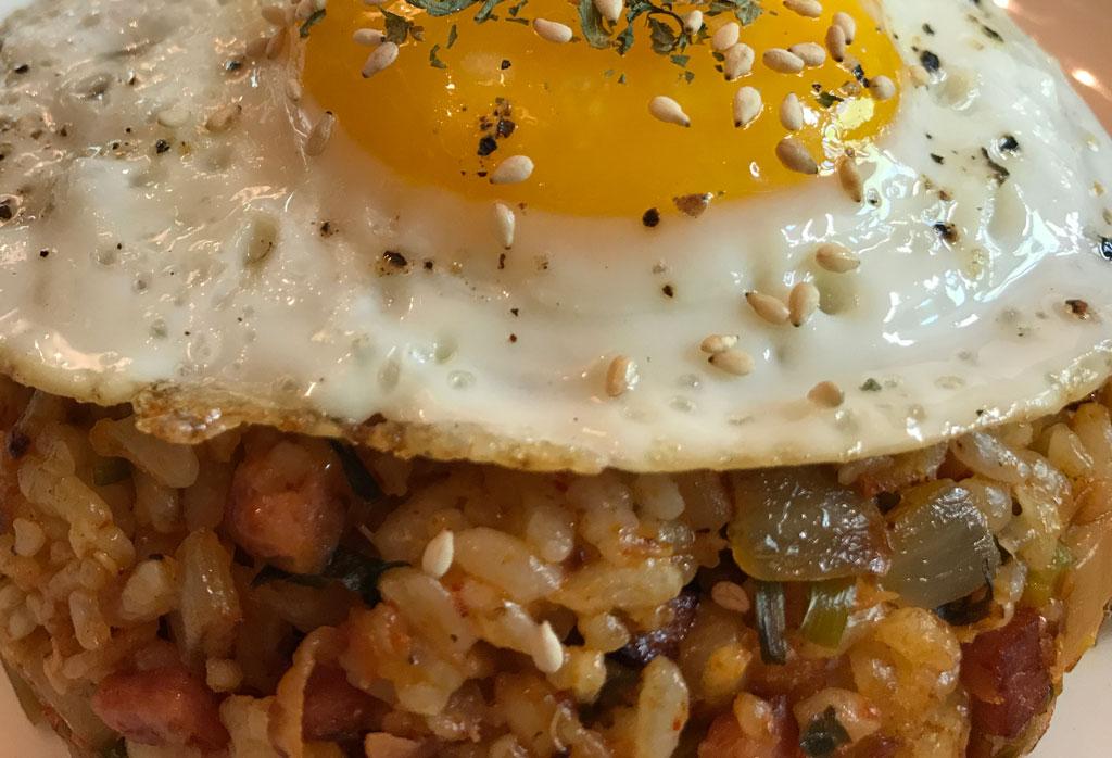 Kimchi Fried Rice - Closeup