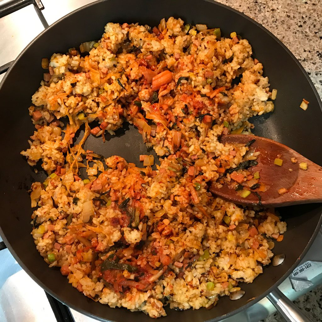 Kimchi Fried Rice - Frying rice